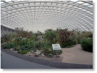 The Great Glasshouse at the Welsh Botanical Gardens