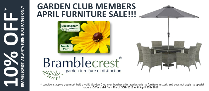 10% off Bramblecrest Atlanta range for Buckingham Garden Centre Garden Club members