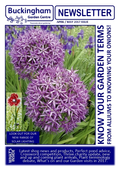 Buckingham Garden Centre Newsletter April/May 2017