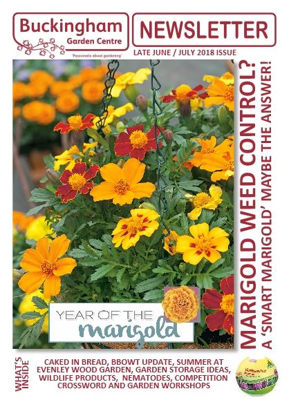Buckingham Garden Centre Newsletter June/July 2018 front cover