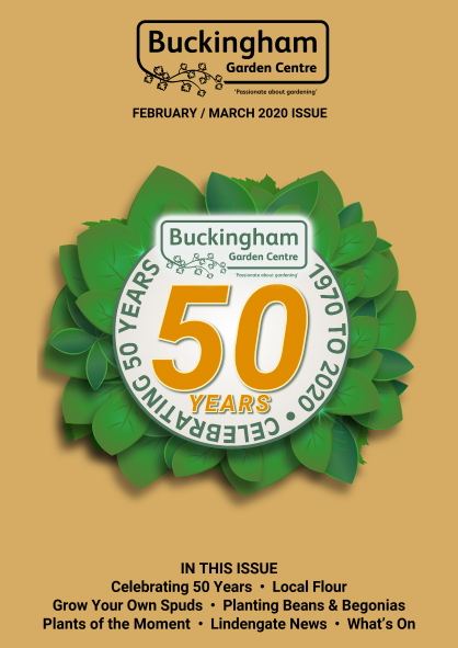 Buckingham Garden Centre's February 20/March 20 newsletter front cover