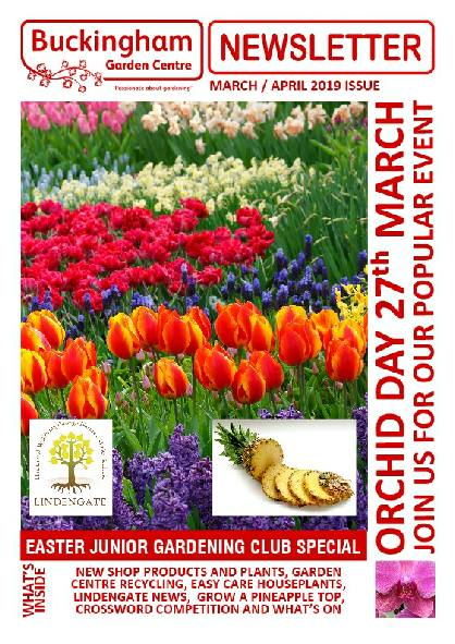 Buckingham Garden Centre's January/February 2019 newsletter front cover