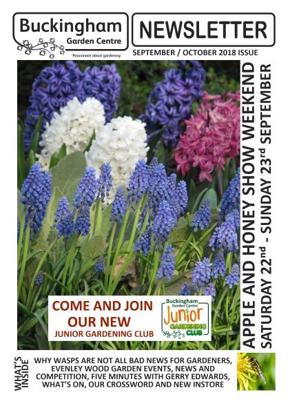 Buckingham Garden Centre Newsletter September/October 2018 front cover