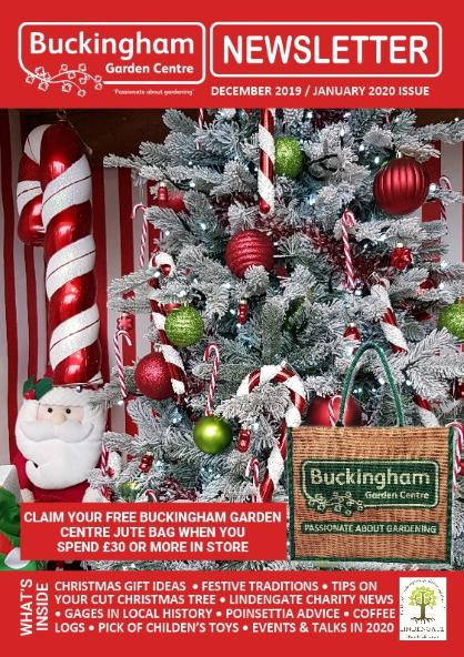 Buckingham Garden Centre's December 19/January 20 newsletter front cover