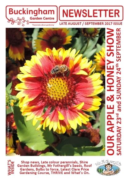 August/September Buckingham Garden Centre newsletter front cover