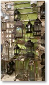 Zanzibar style lanterns available from Buckingahm Garden Centre