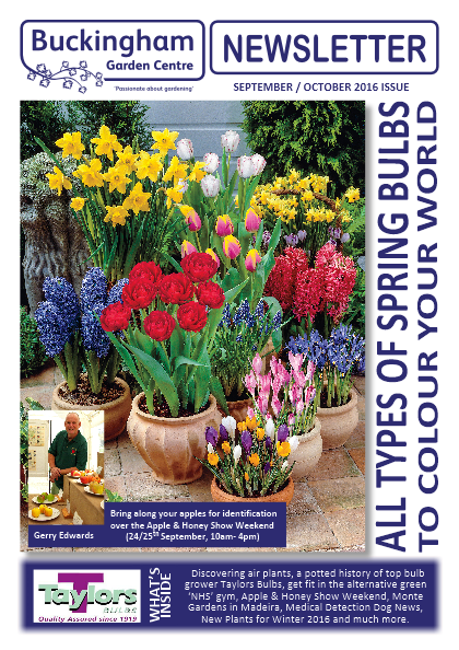 Buckingham Garden Centre Newsletter front cover
