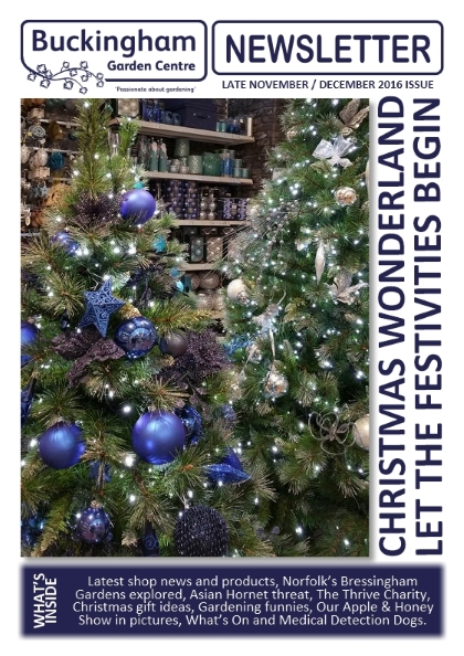 Buckingham Garden Centre Garden Newsletter cover November/December 2016