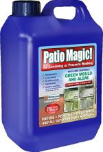 Use Patio Magic to clean patios and paths of algae