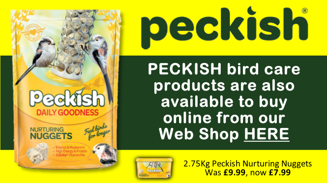 Peckish bird food available from Buckingham Garden Centre and online our Web Shop