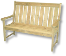 Alexander Rose Pine Bench available at Buckingham Garden Centre