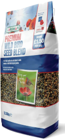 Wild bird seed blend available at Buckingham Garden Centre