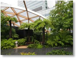 Crossrail Place roof garden at Canary Wharf