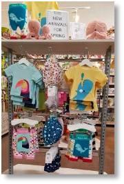Expaned children's wear department at Buckingham Garden Centre