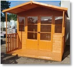 Milton summerhouse available from Buckingham Garden Centre