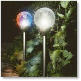 Solar lights available from Buckingham Garden Centre