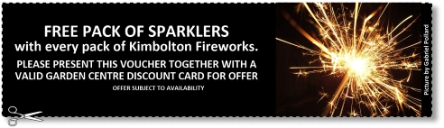 Free sparkler offer at Buckingham Garden Centre