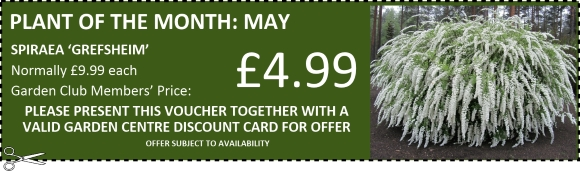 Buckingham Garden Centre Garden Club Member offer voucher