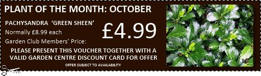 Garden Club voucher for use at Buckingham Garden Centre