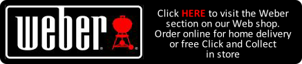 Weber BBQ products available on Buckingham Garden Centre's Web Shop