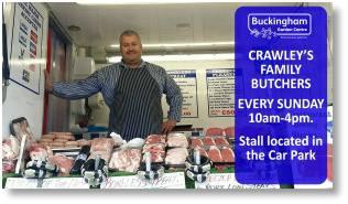 Lee Crawley butcher - at Buckingham Garden Centre mist Sundays!