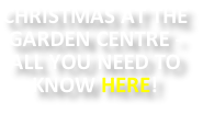 CHRISTMAS AT THE GARDEN CENTRE - ALL YOU NEED TO KNOW HERE!