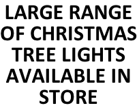 LARGE RANGE OF CHRISTMAS TREE LIGHTS AVAILABLE IN STORE
